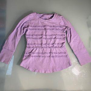 Peekaboo Beans long sleeve ruffle t-shirt size 2